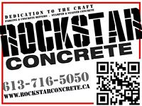 CONCRETE FINISHING FORMING & CEMENT REPAIR ( WIN $1500)
