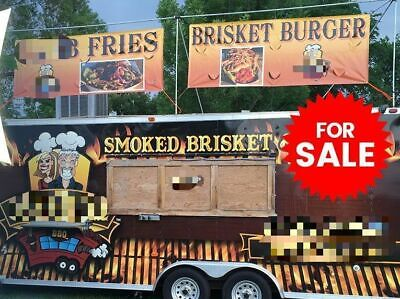 Solid 2012 - 8 X 25 Turnkey Ready Barbecue Concession Trailer With Porch For S