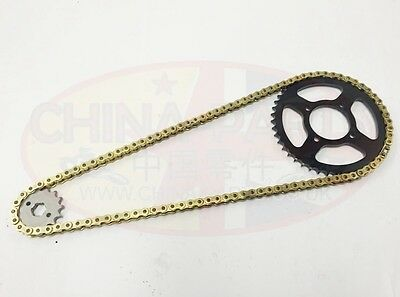 Yamaha YZF R125 Chain And Sprocket Kit Heavy Duty Gold 2008 - 2015 YZF 125R