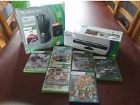 Xbox 360 250GB with kincet + games