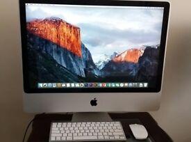 Apple iMac 24 inch Intel Core 2 Duo 2.66Ghz, 8GB DDR3 Ram, 500GB HD, Geforce 9400, El Capitan 10.11