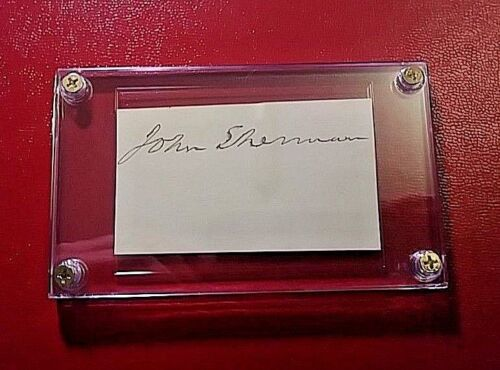 John Sherman (1823-1900) secretary of state US Senator SIGNED Signature