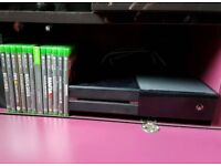 XBOX ONE 500GB with 12 games and 1 standard controller