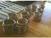90 Chrome Curtain rings