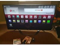 LG 55 inch supper slim line 3D smart led with remote control 1 year warranty