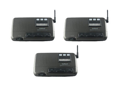 3 Station 4 Channel Home Office Wireless FM Voice Intercom System Charcoal (4 Station Intercom)