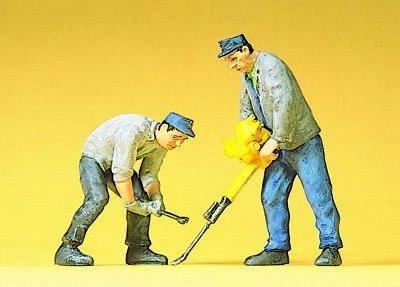 Preiser 45019 G  Gleisbauarbeiter  2 Figuren NEU OVP /