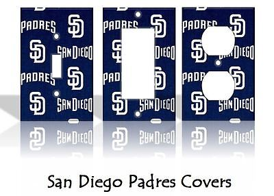 San Diego Padres #2 Light Switch Covers Baseball MLB Home Decor Outlet