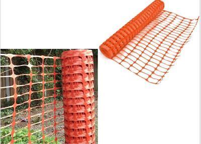1 x 15m Orange Plastic Barrier Mesh Fencing Outdoor Event