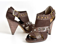 Next Brown studded high shoes, size 6