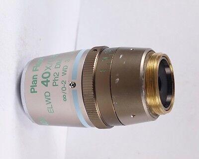 Nikon Plan Fluor Elwd 40x Ph2 Dm Phase Contrast Eclipse Microscope Objective