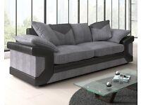 3 plus 2 grey black sofas bramd new boxed free delivery dino