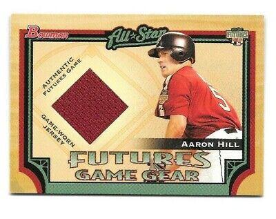 2005 Bowman Baseball Futures Game Gear Aaron Hill Toronto Blue Jays Jersey