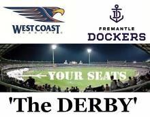 1-2 West Coast Eagles v Fremantle Dockers DERBY Tickets Subiaco Subiaco Area Preview