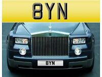 Number Plate 8 YN Cherished Private Number Plate Very Short 3 Digit Rare BYN