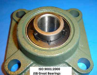Qty 2 1 Ucf205-16 Quality Square Flanged Ucf205 Pillow Block Bearing Ucf 205