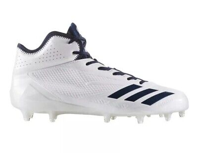adeb4be069a Adidas Adizero 5-Star 6.0 Mid Football Cleats B42485 Man US 10.5 White Navy  NEW