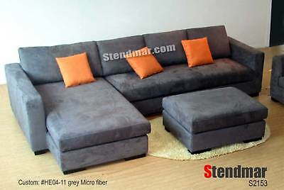 3PC MODERN EURO DESIGN FABRIC SECTIONAL SOFA SET S2153