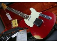 Fender Custom Shop 1963 Heavy Relic Telecaster Candy Red & Orig Case & Candy