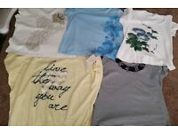 5 LADIES T-SHIRTS SIZE 18/20 M&S BHS COUNTRY CASUALS ETC