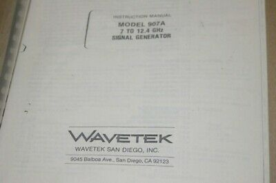 Wavetek 907a 7-12.4 Ghz Signal Generator Instruction Operating Manual