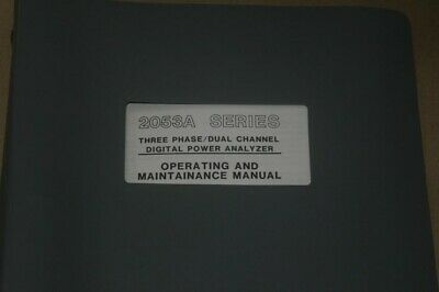 Valhalla Scientific 2053a Digital Power Analyzer Operating Users Guide Manual