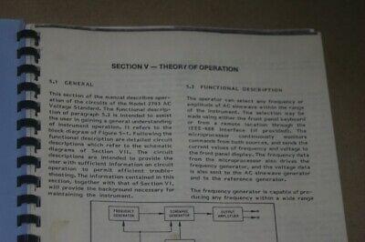 Valhalla Scientific 2703 Ac Voltage Standard Operation Manual