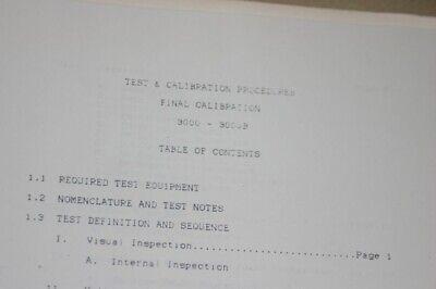Wavetek 30003000b Testcalbration Proceedure Instruction Guide Manual
