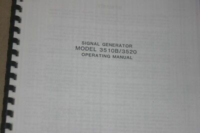 Wavetek 3510b3520 Signal Generator Operating Manual Instruction Guide