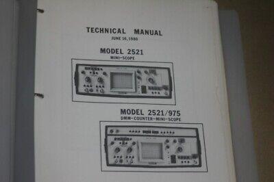 Valhalla Scientific 2521975 Mini-scopedmm Counter Technical Service Manual