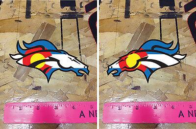 Co Colorado State Flag Denver Broncos Decal Sticker 5    2 For 1