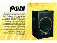 Rare Tannoy Puma PA 2xspeakers