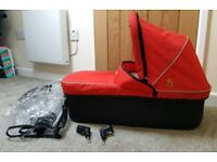 Out n About Nipper Single Carrycot Red With Adaptors and XL Raincover