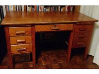 Vintage wooden office desk
