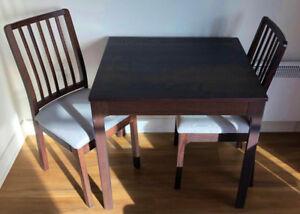 IKEA EKEDALEN - Table à rallonge, brun foncé - EXCELLENTE CONDIT