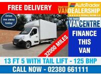 RENAULT MASTER LL35 CDI LWB LUTON 125 BHP 13FT 5 WITH TAIL LIFT 3 SEATS