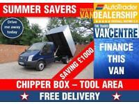 FORD TRANSIT 350 1 WAY TIPPER MWB 125 BHP CHIPPER BOX TOOL AREA 3 SEATS