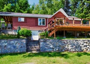 Reduced Fall Rates!Beautiful Lakefront Cottage on Nepewassi Lake