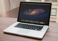 Macbook Pro 15inch i7 Quad Core 750GB w/ Photoshop Office Word