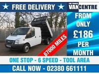 FORD TRANSIT 350 DOUBLE CAB TIPPER LWB 1 WAY ONE STOP 6 SPEED TOOL AREA