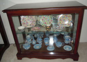 2 Wood and Glass Display Cabinets