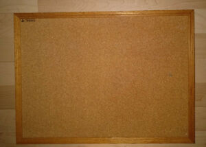 3 smaller cork bulletin pin boards, 1 bigger, 1 whiteboard $3-$5