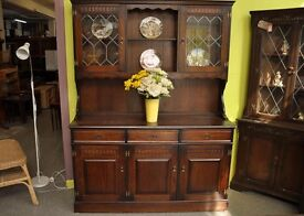 20% OFF SALE - Welsh Dresser / Sideboard With Cupboards, Drawers & Shelves - Can Deliver For £19