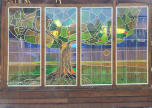 (4) Custom Stained Glass Panels