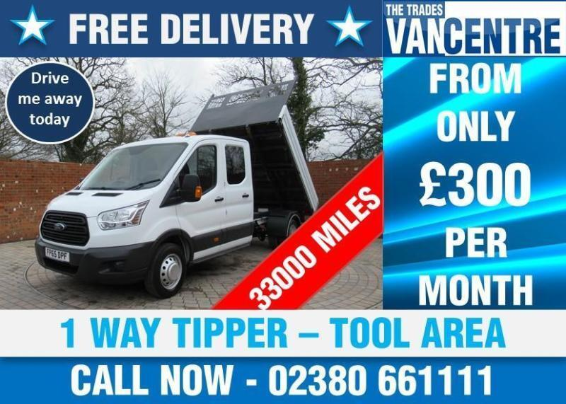 3649a8095addb8 FORD TRANSIT 350 DOUBLECAB ONE WAY TIPPER LWB 125 BHP TOOL AREA 3 SEATS