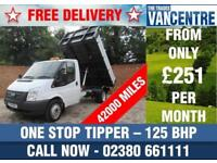 FORD TRANSIT 350 1 WAY TIPPER MWB 125 BHP ONE STOP TIPPER