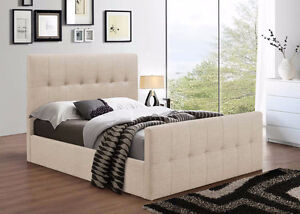 very sturdy and gorgeous linen bed, avail in Grey,Beige,brown,li