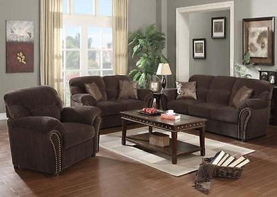 Acme Patricia Olive Gray Fabric Studded Sofa and Loveseat Furniture 50950 - Olive Fabric Sofa