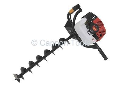 49cc two stroke petrol earth auger with 100mm, 150mm, 200mm drill bits