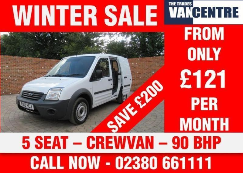 FORD TRANSIT CONNECT T220 1.8 TDCI SWB CREWVAN 5 SEATS